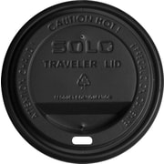 SOLO® Traveller® TLB316 Drink-Thru Lid For 10 - 24 oz. Cup, Black, 1000/Carton