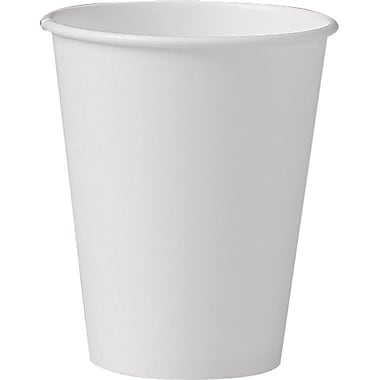 SOLO® U508NU Uncoated Hot Paper Cup, 8 oz. White, 1000/Carton