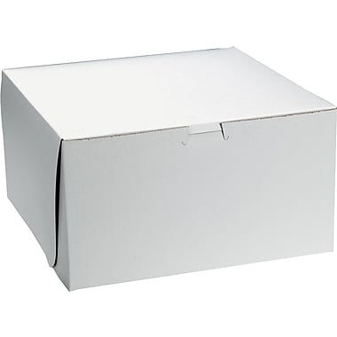 Smyrna Container Bakery Box, White, 4in.(H) x 10in.(W) x 10in.(D)