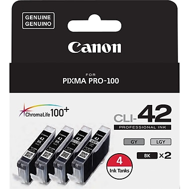 Canon CLI-42 Black Ink Cartridges (6384B008), 4/Pack