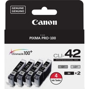 Canon CLI-42BK Black Ink Cartridges (6384B008), 4/Pack