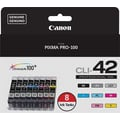 Canon CLI-42 Black/Color Ink Cartridges (6384B007), Value 8/Pack