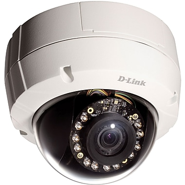 d-Link® DCS-6511 HD Dome IP Camera, 1/3in. Megapixel WDR Progressive Scan CMOS