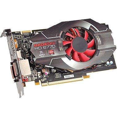 XFX® HD677XZNFC Radeon HD 6770 GPU Graphic Card With AMD Chipset, 1 GB DDR5 SDRAM