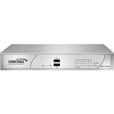 Sonicwall® NSA 220 Series Network Security Appliance With 1 Year Gateway, 15 W
