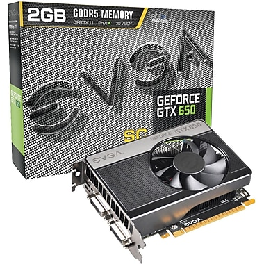 EVGA® 02G-P4-2653-KR GeForce GTX 650 GPU Graphic Card With NVIDIA Chipset, 2 GB GDDR5 SDRAM