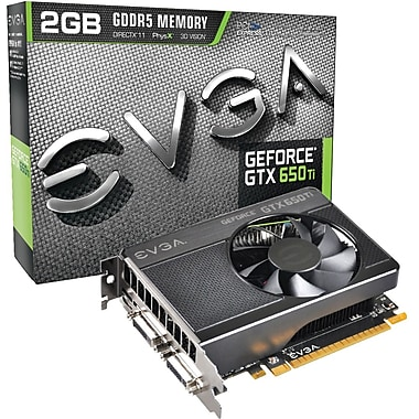 EVGA® 02G-P4-3651-KR GeForce GTX 650 Ti GPU Graphic Card With NVIDIA Chipset, 2 GB GDDR5 SDRAM