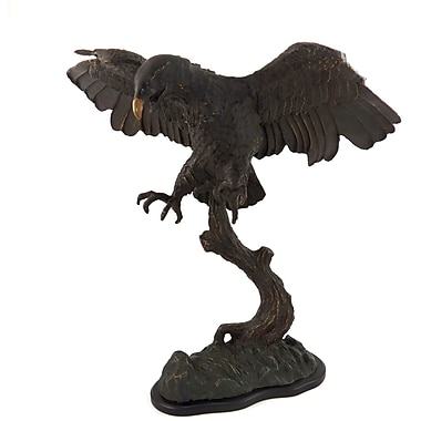 Bey-Berk American Eagle  Sculpture With Bronzed Finish