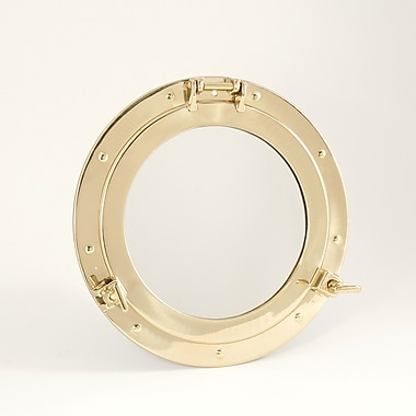 Bey-Berk Brass Porthole  Mirror, 11 1/2in.(Dia)
