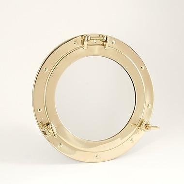 Bey-Berk Brass Porthole  Mirror, 11 1/2in.(Dia)