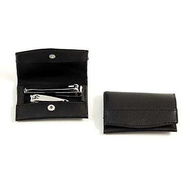 Bey-Berk 2 Piece  Nail Clipper Set With Black Leather Case