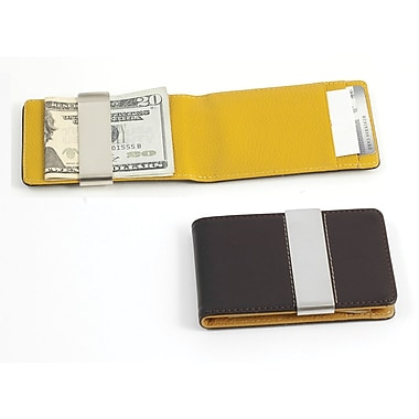 Bey-Berk Leather Wallet  With Credit Card/ID Slots and Money Clip, Brown