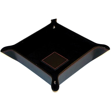 Bey-Berk BB500 Leather Snap Valet w/ Pig Skin Leather Lining, Black