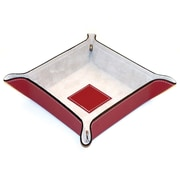 Bey-Berk Leather Snap  Valet With Pig Skin Leather Lining, Red