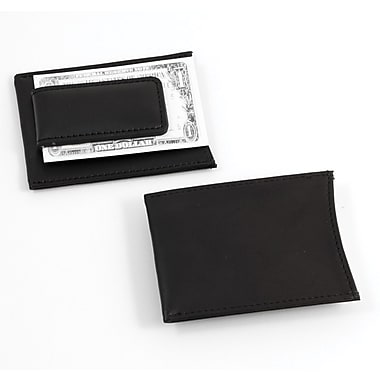 Bey-Berk Leather Magnetic Money Clip and Wallet, Black
