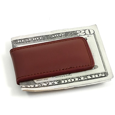 Bey-Berk Leather Magnetic  Money Clip, Brown