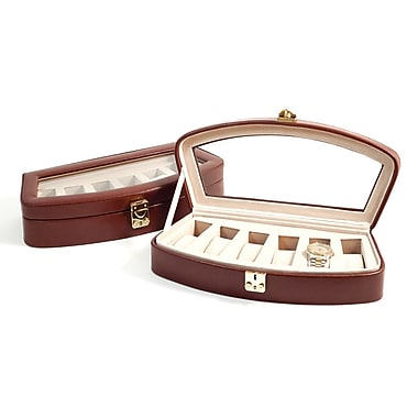Bey-Berk Leather 6  Watch Case, Brown