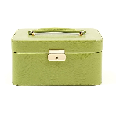 Bey-Berk Leather Lizard  Jewelry Box, Lime