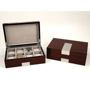 Bey-Berk Lacquered Walnut  Wood 8 Watch Box