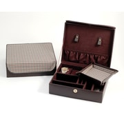 Bey-Berk Valet Case  With Travel Valet Brown Leather