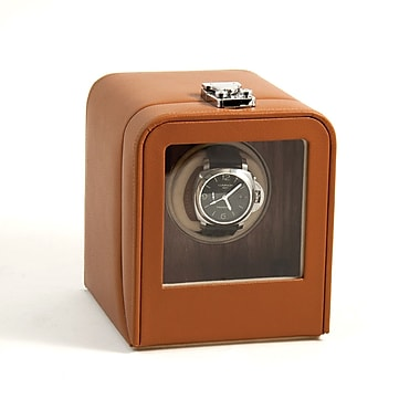 Bey-Berk Leather Single  Watch Winder, Tan