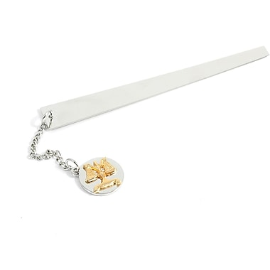 Bey-Berk BB76 Chrome Plated Brass Bookmarks With Charm