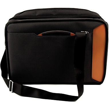 Bey-Berk Leather and  Ballistic Nylon Briefcase, Saddle