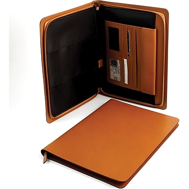 Bey-Berk Leather Portfolio,  Saddle