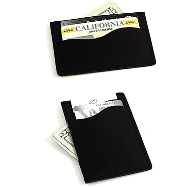 Bey-Berk Leather Slim  Wallet With Multi Slots, Black