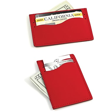 Bey-Berk Leather Slim  Wallet With Multi Slots, Red