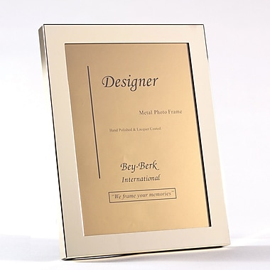 Bey-Berk 5in. x 7in. Polished Solid Brass Picture Frame (BF100-11)