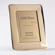 "Bey-Berk 8"" x 10"" Solid Brass Picture Frame (BF163-12)"