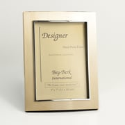 Bey-Berk Metal Picture  Frame, Sanitized Gold, 7(H) x 5(W)