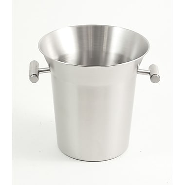 Bey-Berk Stainless Steel  Ice Bucket/Cooler With Brushed Finish and Side Handles