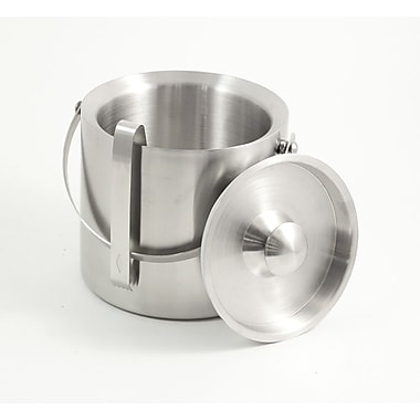 Bey-Berk Stainless Steel Double Wall Ice Bucket With Ice Tong