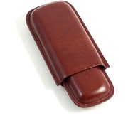 Bey-Berk Leather Telescoping  2 Cigar Case, Cognac