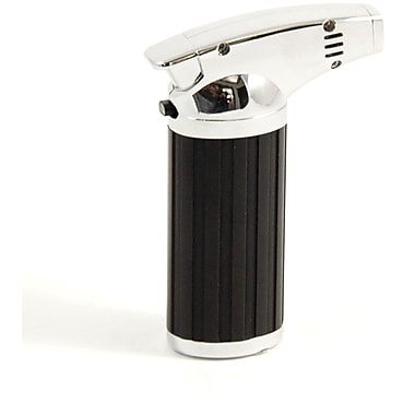 Bey-Berk Stainless Steel and Black Plastic Torch Lighter