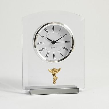 Bey-Berk Beveled Glass Quartz Clock, Chiropractor