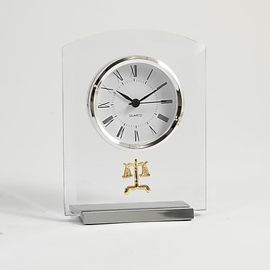 Bey-Berk Beveled Glass  Quartz Clock, Legal