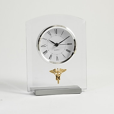 Bey-Berk Beveled Glass Quartz Clock, Nursing