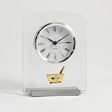 Bey-Berk Beveled Glass Quartz Clock, Pharmacy