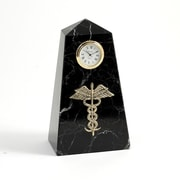 Bey-Berk Black Zebra  Marble Quartz Clock, Medical