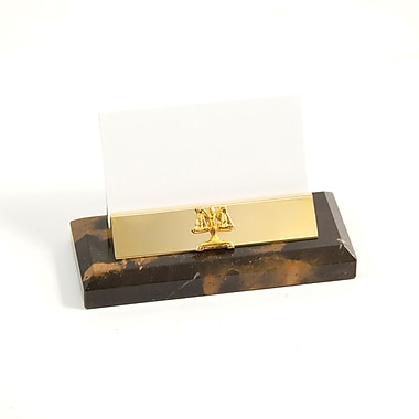 Bey-Berk Gold Plated Business Card Holder, Legal