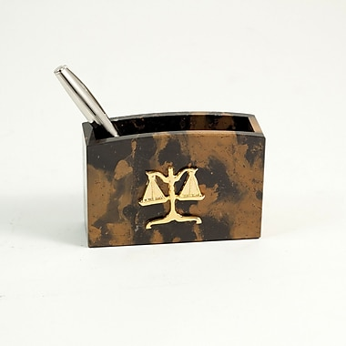 Bey-Berk Pencil Box With Gold Plated Accents, Legal