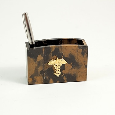 Bey-Berk Pencil Box  With Gold Plated Accents, Medical