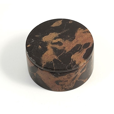 Bey-Berk Round Box, Black and Brown