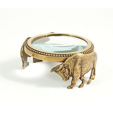 Bey-Berk Magnifier With  Bull and Bear Figurines