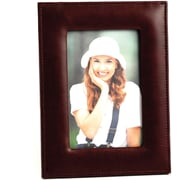 Bey-Berk Tan Leather  Picture Frame With Easel Back, 4 x 6