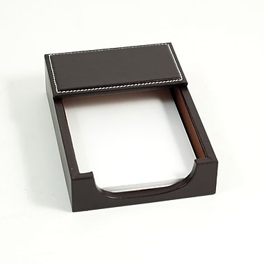 Bey-Berk Leather Memo  Holder, 4in.(L) x 6in.(W), Coco Brown