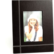 Bey-Berk Coco Brown  Leather Picture Frame With Easel Back, 4 x 6